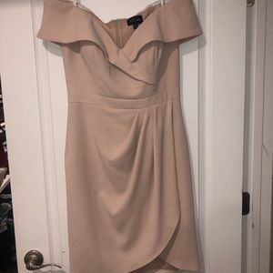 Xscape cocktail dress off the shoulder